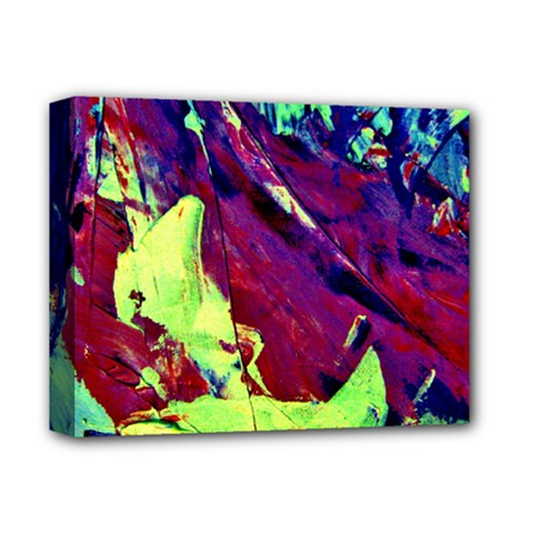 Abstract Painting Blue,yellow,red,green Deluxe Canvas 14  X 11