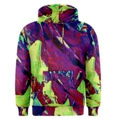 Abstract Painting Blue,yellow,red,green Men s Pullover Hoodies