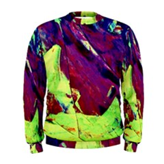 Abstract Painting Blue,yellow,red,green Men s Sweatshirts by Costasonlineshop