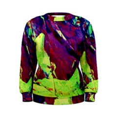 Abstract Painting Blue,yellow,red,green Women s Sweatshirts by Costasonlineshop