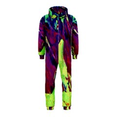 Abstract Painting Blue,yellow,red,green Hooded Jumpsuit (kids) by Costasonlineshop