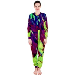 Abstract Painting Blue,yellow,red,green Onepiece Jumpsuit (ladies)  by Costasonlineshop