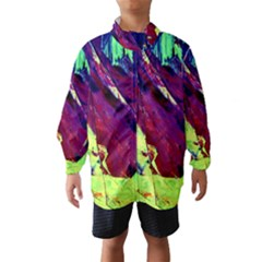 Abstract Painting Blue,yellow,red,green Wind Breaker (kids)