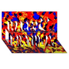 Fire Tree Pop Art Happy Birthday 3d Greeting Card (8x4)  by Costasonlineshop