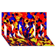 Fire Tree Pop Art Mom 3d Greeting Card (8x4)
