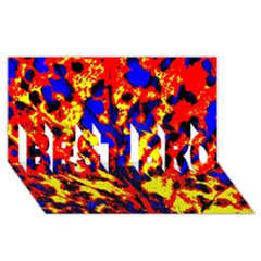 Fire Tree Pop Art Best Bro 3d Greeting Card (8x4)  by Costasonlineshop