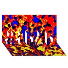 Fire Tree Pop Art #1 Dad 3d Greeting Card (8x4)