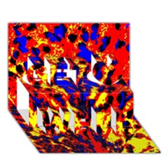 Fire Tree Pop Art Get Well 3d Greeting Card (7x5)  by Costasonlineshop