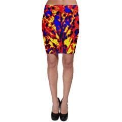 Fire Tree Pop Art Bodycon Skirts by Costasonlineshop