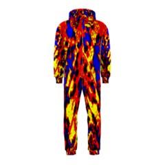 Fire Tree Pop Art Hooded Jumpsuit (kids)