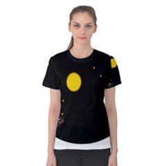 Cycle To The Moon Women s Cotton Tee by JDDesigns
