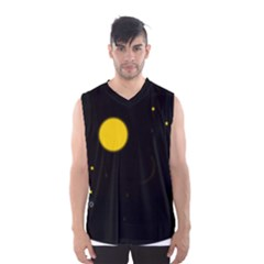 Cycle To The Moon Men s Basketball Tank Top by JDDesigns