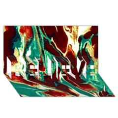 Brown Beige Marble Pattern Believe 3d Greeting Card (8x4)  by Costasonlineshop