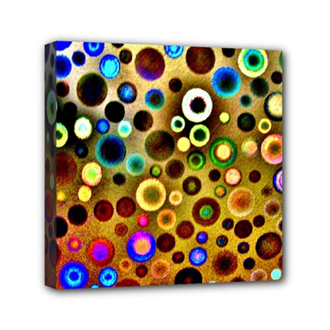 Colourful Circles Pattern Mini Canvas 6  X 6