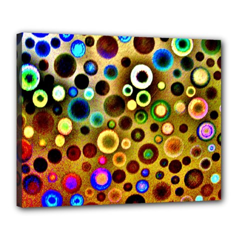 Colourful Circles Pattern Canvas 20  X 16