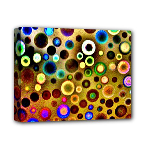 Colourful Circles Pattern Deluxe Canvas 14  X 11  by Costasonlineshop