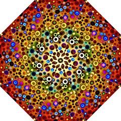 Colourful Circles Pattern Hook Handle Umbrellas (medium) by Costasonlineshop
