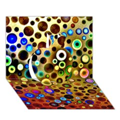 Colourful Circles Pattern Apple 3d Greeting Card (7x5)  by Costasonlineshop