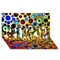 Colourful Circles Pattern #1 Mom 3d Greeting Cards (8x4)  by Costasonlineshop