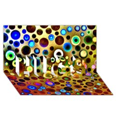 Colourful Circles Pattern Hugs 3d Greeting Card (8x4)  by Costasonlineshop