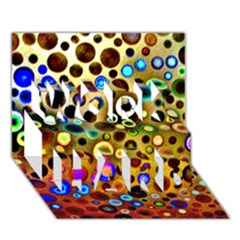 Colourful Circles Pattern Work Hard 3d Greeting Card (7x5)  by Costasonlineshop
