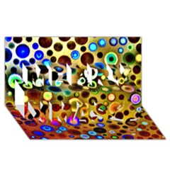 Colourful Circles Pattern Merry Xmas 3d Greeting Card (8x4)  by Costasonlineshop