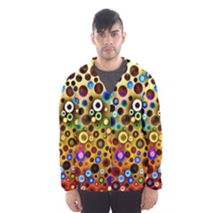 Colourful Circles Pattern Hooded Wind Breaker (men) by Costasonlineshop