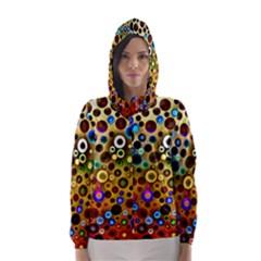 Colourful Circles Pattern Hooded Wind Breaker (Women) by Costasonlineshop