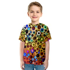 Colourful Circles Pattern Kid s Sport Mesh Tees by Costasonlineshop