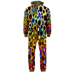 Colourful Circles Pattern Hooded Jumpsuit (men)