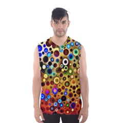 Colourful Circles Pattern Men s Basketball Tank Top by Costasonlineshop