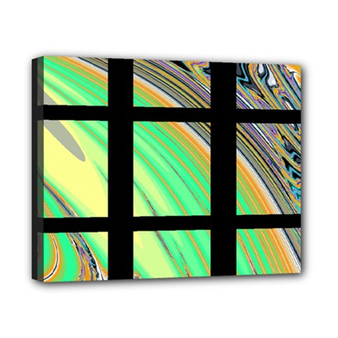 Black Window With Colorful Tiles Canvas 10  X 8  by theunrulyartist