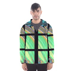 Black Window With Colorful Tiles Hooded Wind Breaker (men) by theunrulyartist