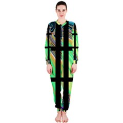 Black Window With Colorful Tiles Onepiece Jumpsuit (ladies)  by theunrulyartist