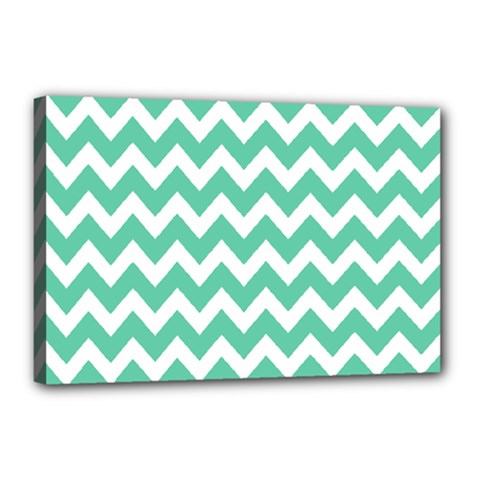 Chevron Pattern Gifts Canvas 18  X 12
