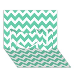 Chevron Pattern Gifts I Love You 3d Greeting Card (7x5)
