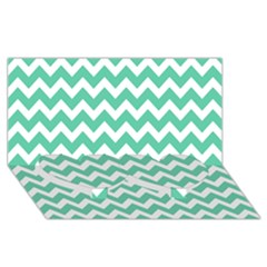 Chevron Pattern Gifts Twin Heart Bottom 3d Greeting Card (8x4)