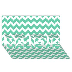Chevron Pattern Gifts Believe 3d Greeting Card (8x4)