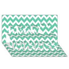 Chevron Pattern Gifts Best Wish 3d Greeting Card (8x4)