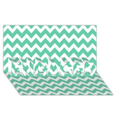 Chevron Pattern Gifts Engaged 3d Greeting Card (8x4)