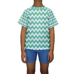 Chevron Pattern Gifts Kid s Short Sleeve Swimwear