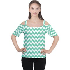 Chevron Pattern Gifts Women s Cutout Shoulder Tee