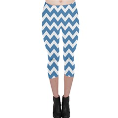 Chevron Pattern Gifts Capri Leggings by creativemom