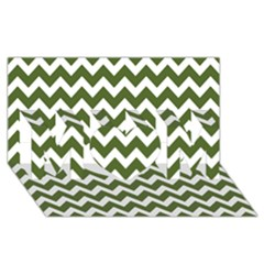 Chevron Pattern Gifts Mom 3d Greeting Card (8x4)