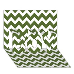 Chevron Pattern Gifts Boy 3d Greeting Card (7x5)