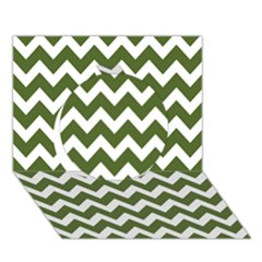 Chevron Pattern Gifts Circle 3d Greeting Card (7x5)