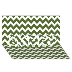Chevron Pattern Gifts Sorry 3d Greeting Card (8x4)