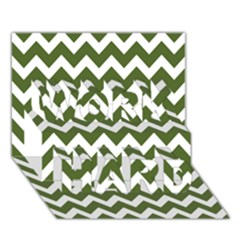 Chevron Pattern Gifts Work Hard 3d Greeting Card (7x5)
