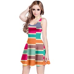 Connected Colorful Rectangles Sleeveless Dress by LalyLauraFLM