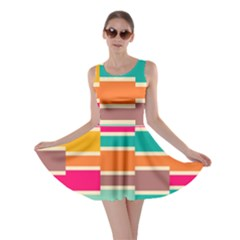 Connected Colorful Rectangles Skater Dress by LalyLauraFLM